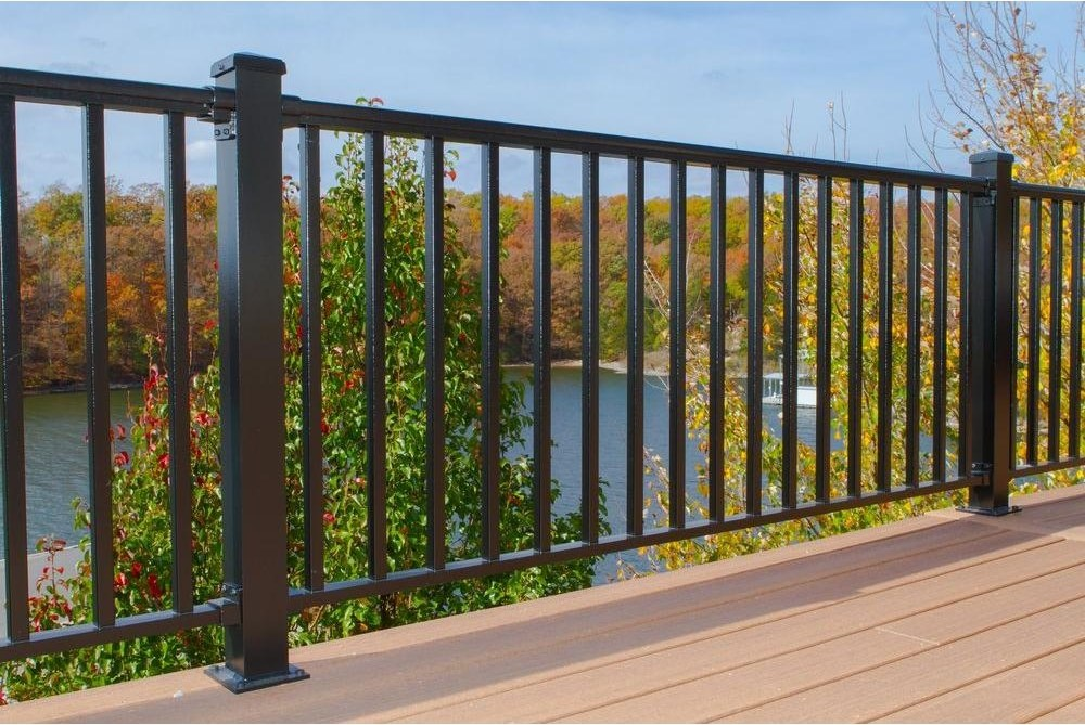 Ez Handrail 6 Ft X 42 In Textured Black Aluminum Baluster   Home Depot Metal Balusters   Cedar   Rubbed Bronze   Wrought Iron Balusters   Staircase   Spindles