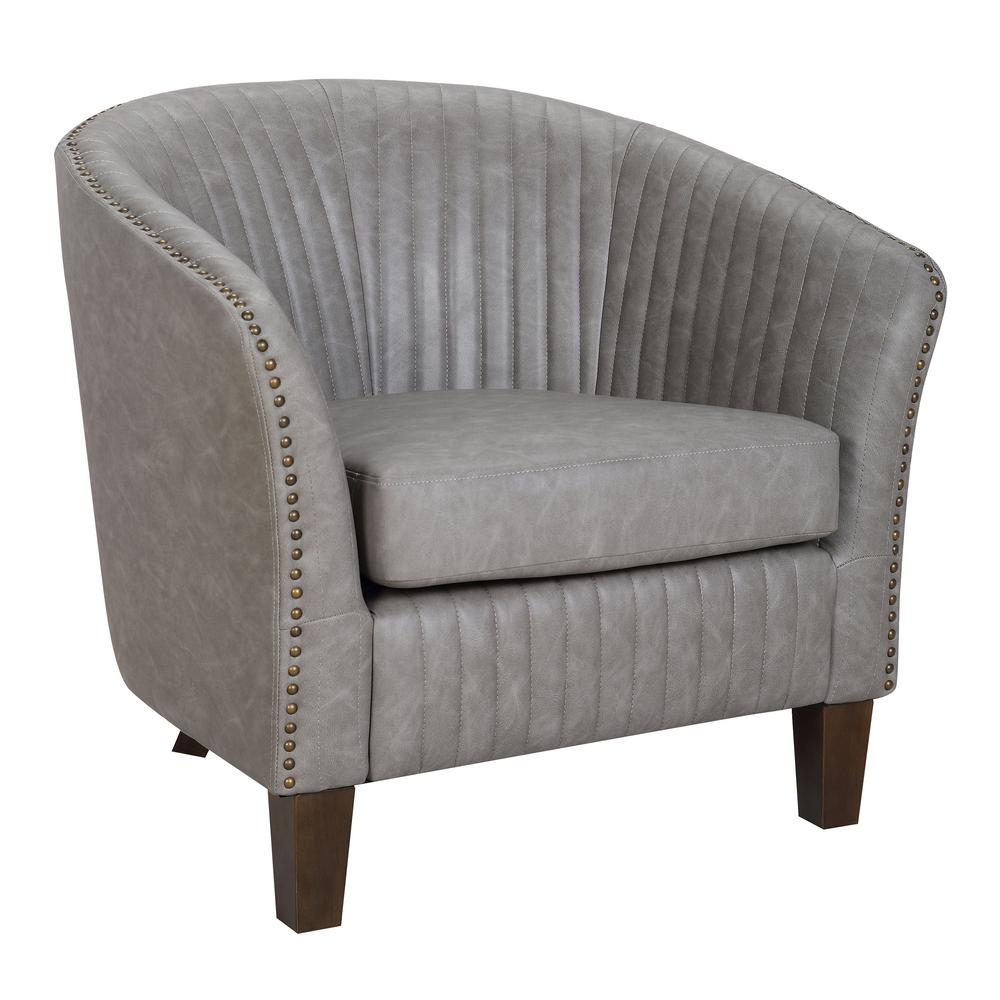 faux leather chair and a half blue velvet tufted lumisource shelton light grey club chr shltn lgy