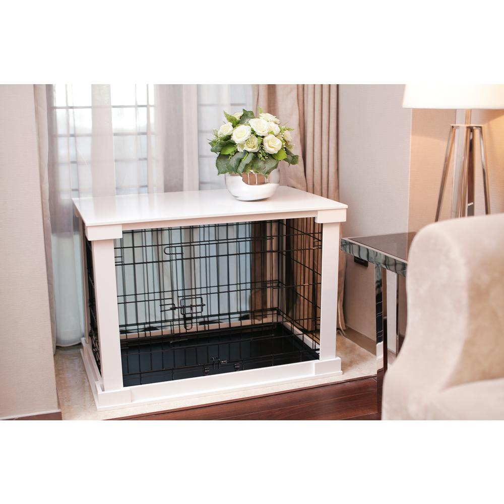 zoovilla Dog Crate with White Cover  LargePTH0251720100