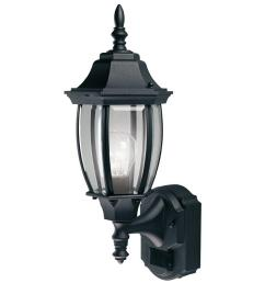 heath zenith 180 degree black alexandria wall lantern sconce with curved beveled glass [ 1000 x 1000 Pixel ]