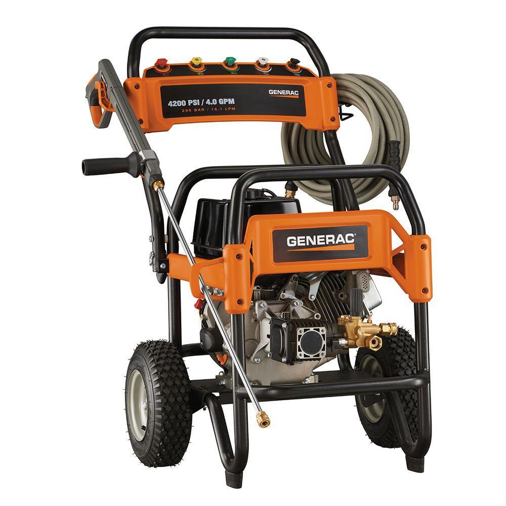 medium resolution of generac 4 200 psi 4 0 gpm ohv engine triplex pump gas powered pressure washer