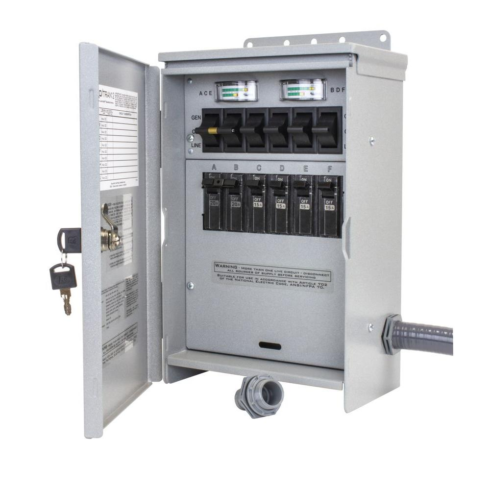 hight resolution of 7 500 watt 30 amp 6 circuit outdoor transfer switch