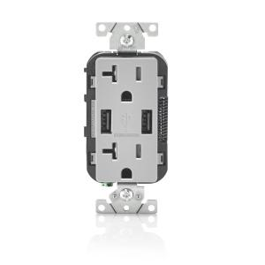 double outlet wiring diagram hopkins breakaway switch legrand pass and seymour 50 amp 125 250 volt surface mount straight decora 20 tamper resistant duplex 3 6 usb gray