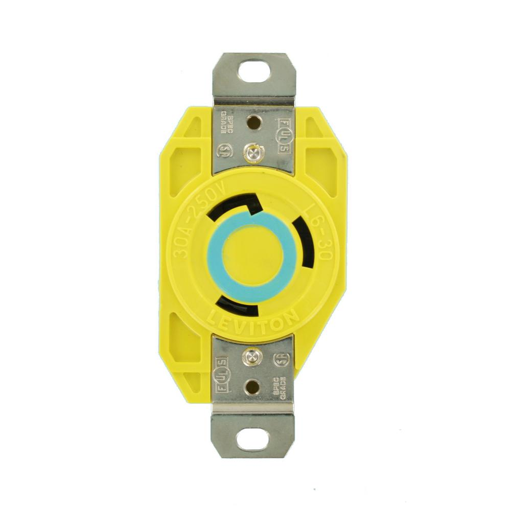 medium resolution of leviton 30 amp 250 volt flush mounting locking outlet industrial grade grounding corrosion resistant