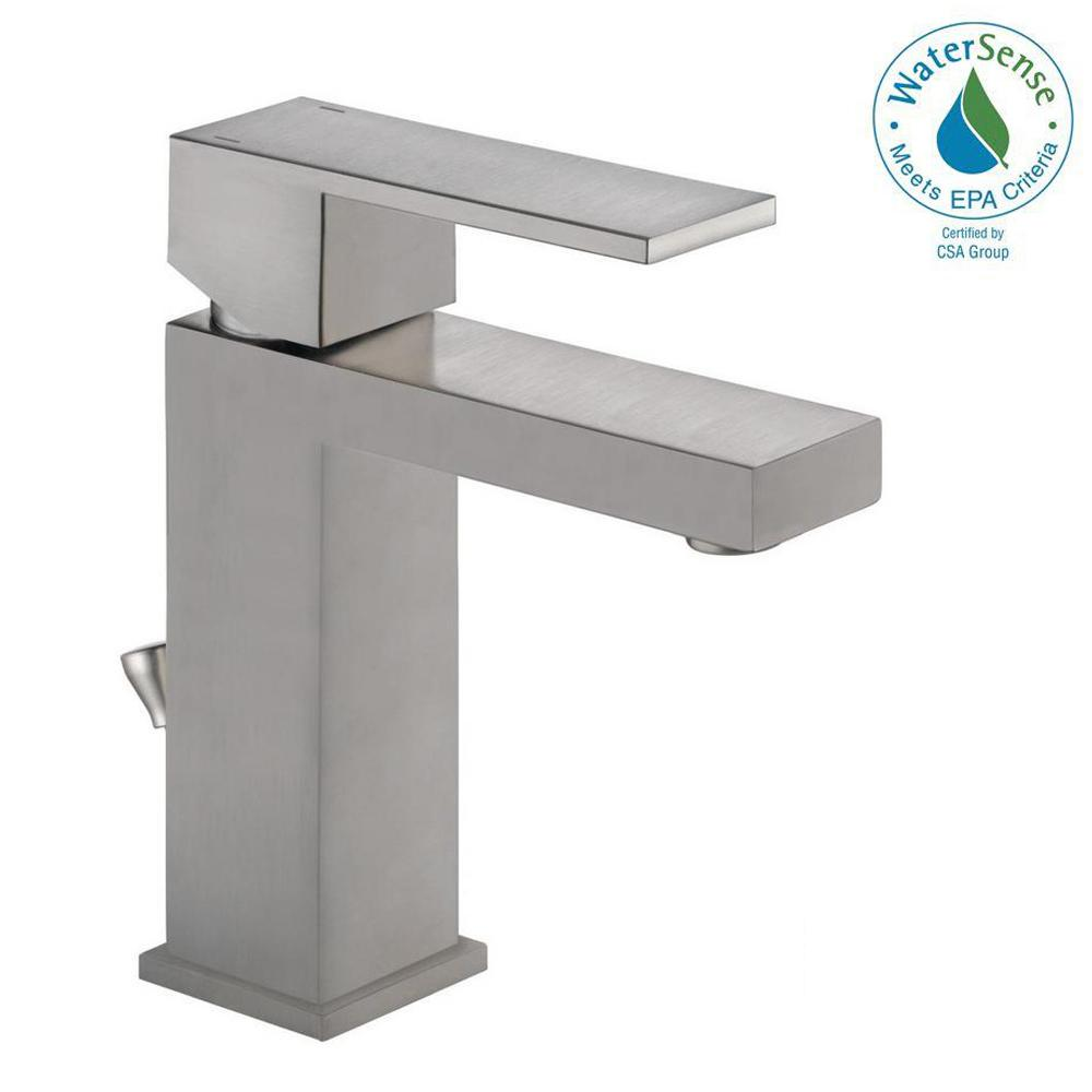 Delta Modern Single Hole SingleHandle Bathroom Faucet in