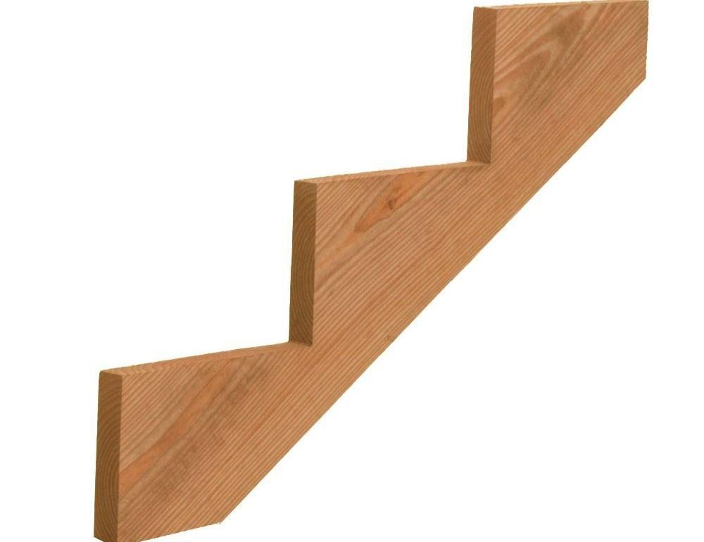 3 Step Pressure Treated Cedar Tone Pine Stair Stringer | Patio Steps Home Depot