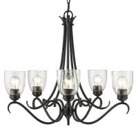 Golden Lighting Parrish 5-Light Black Chandelier with ...