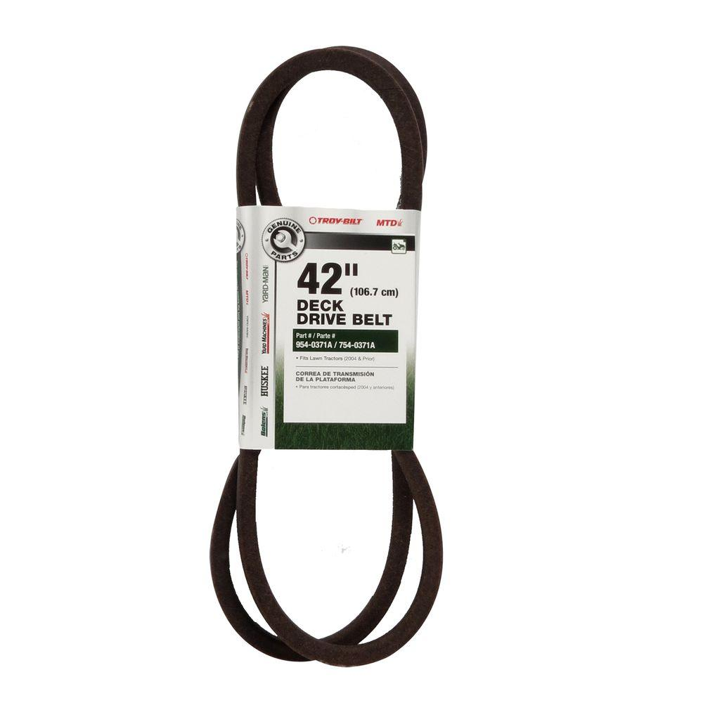 medium resolution of deck drive belt for 42 in 600 series lawn tractors 2007 and prior 754