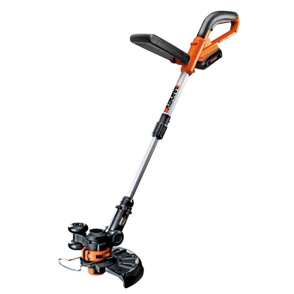 Worx 10 in. 20-Volt Lithium-Ion Cordless Grass Trimmer