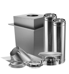 triple wall manufactured home chimney stove vent kit [ 1000 x 1000 Pixel ]