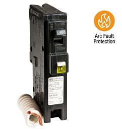 square d homeline 20 amp single pole combination arc fault circuit breaker [ 1000 x 1000 Pixel ]