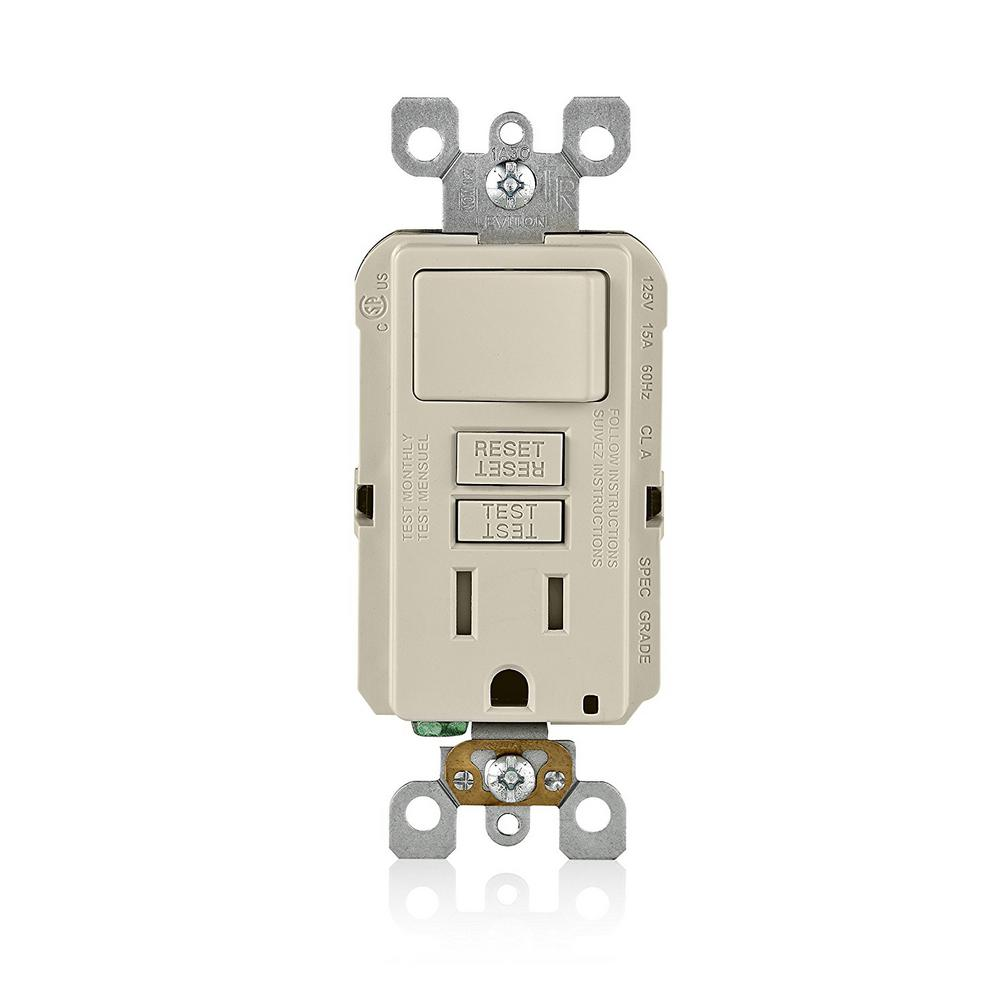 medium resolution of 15 amp smartlockpro combination gfci outlet and switch light almond