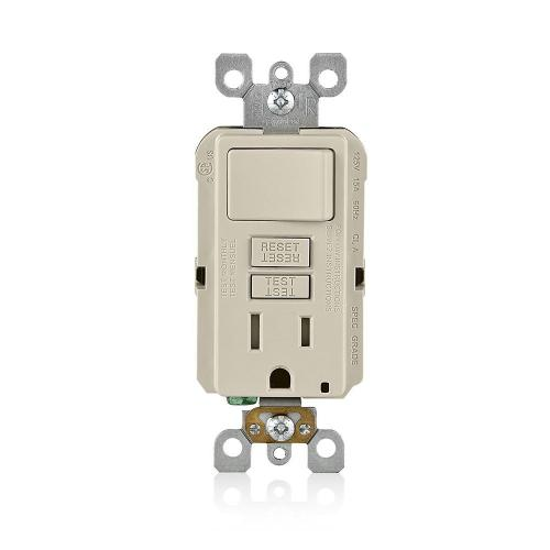 small resolution of 15 amp smartlockpro combination gfci outlet and switch light almond