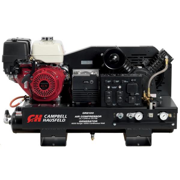 Campbell Hausfeld 10 Gal. Stationary Gas Honda Gx390 Engine 5000-watt Generator Gr2100 Air
