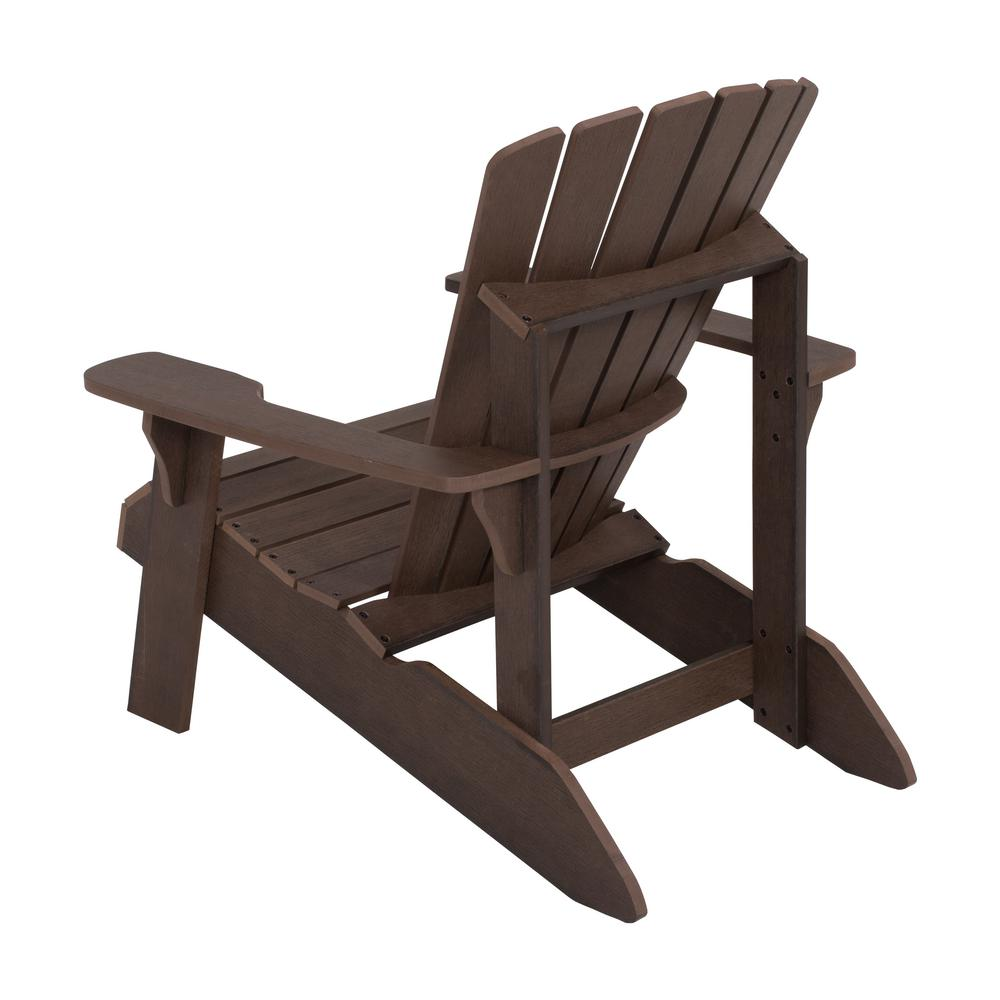 Lifetime Adirondack Chair Lifetime Rustic Brown Adirondack Chair 60289 The Home Depot