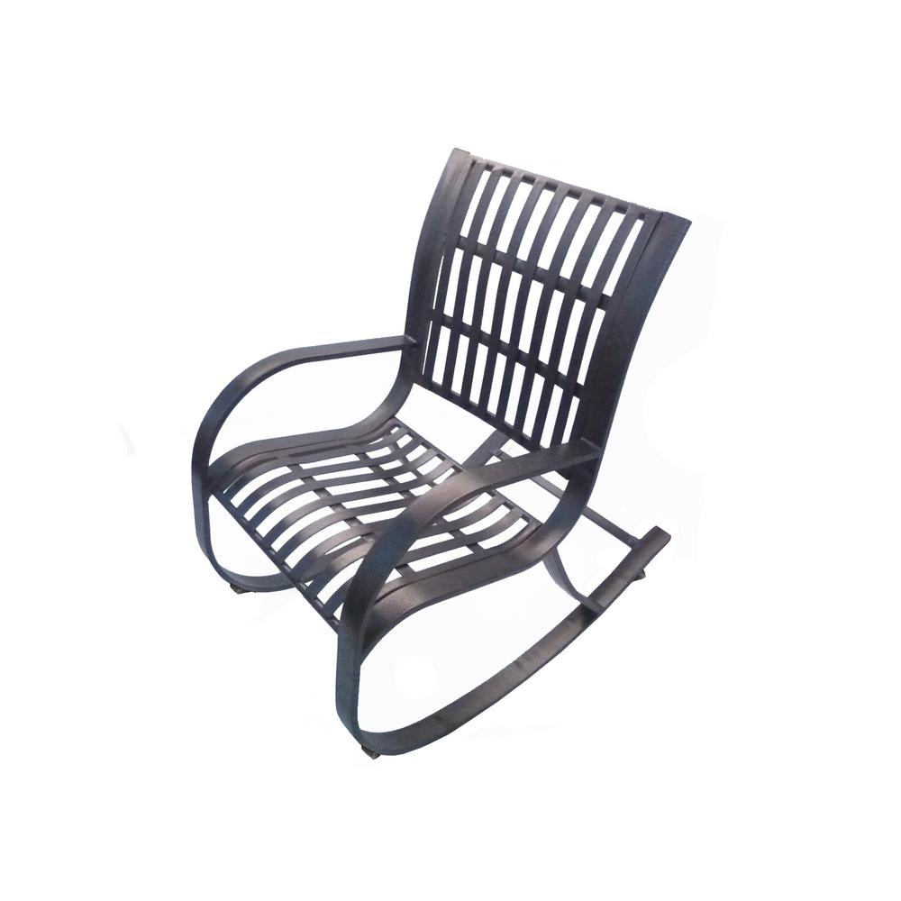 Noble Metal Outdoor Rocking ChairHD6077RHB  The Home Depot