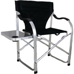 Heavy Duty Folding Chair With Side Table Ergonomic Vs Office Ming S Mark Stylish Camping Black Director
