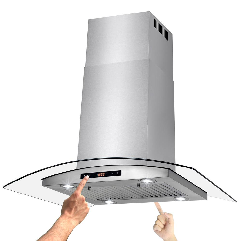 hood kitchen track lighting maple island range hoods the home depot convertible mount with light and