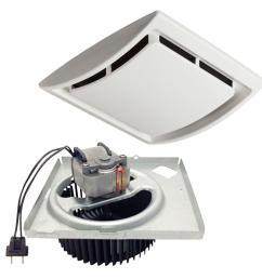 quickit 60 cfm 2 5 sones 10 minute bathroom exhaust fan upgrade kit [ 1000 x 1000 Pixel ]