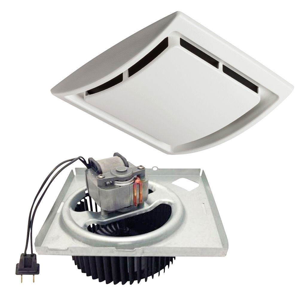 hight resolution of quickit 60 cfm 2 5 sones 10 minute bathroom exhaust fan upgrade kit