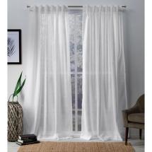 Bella 54 In. X 84 L Sheer Hidden Tab Top Curtain
