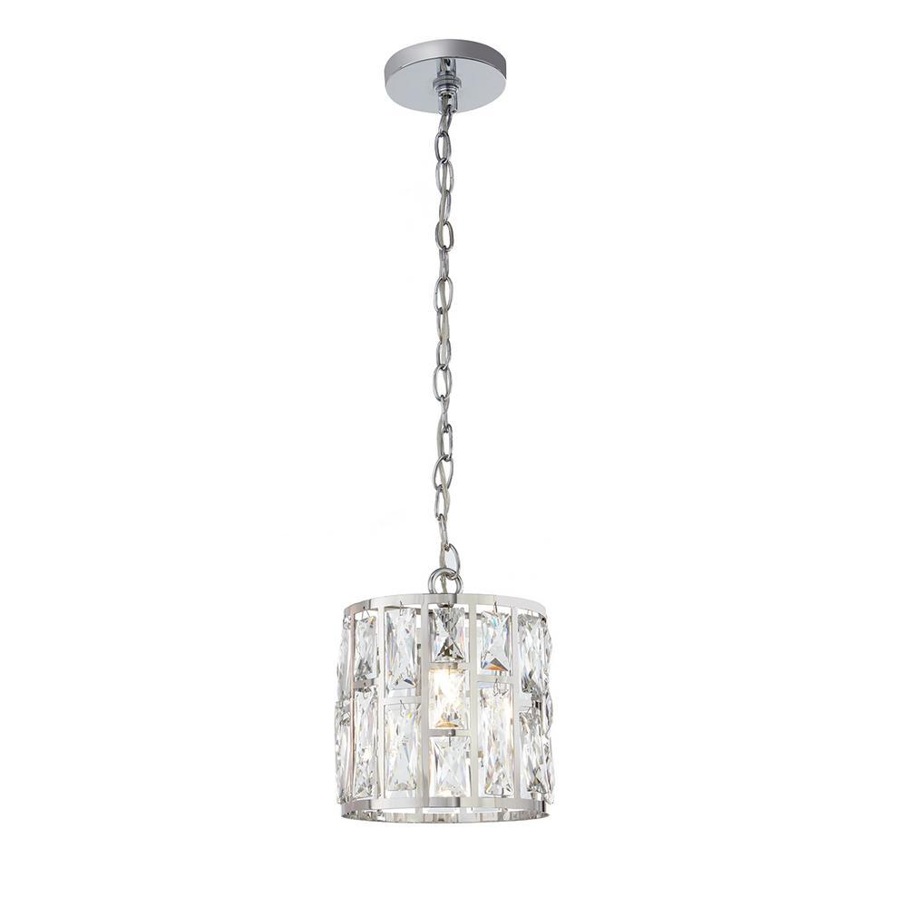 Home Decorators Collection Kristella 1-Light Crystal and