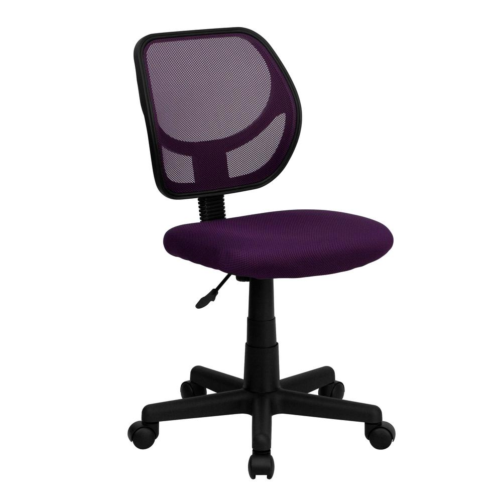 purple swivel chair peacock hanging flash furniture mesh task wa3074pur the home depot
