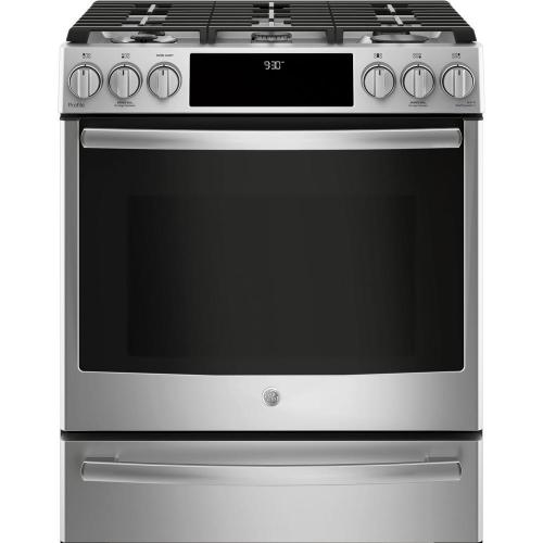 small resolution of ge profile 5 6 cu ft slide in smart dual fuel range with self