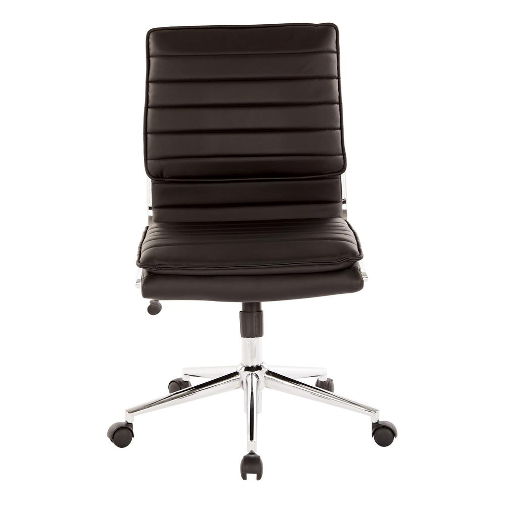 ivory leather office chair clean pro line ii armless mid back manager s black faux