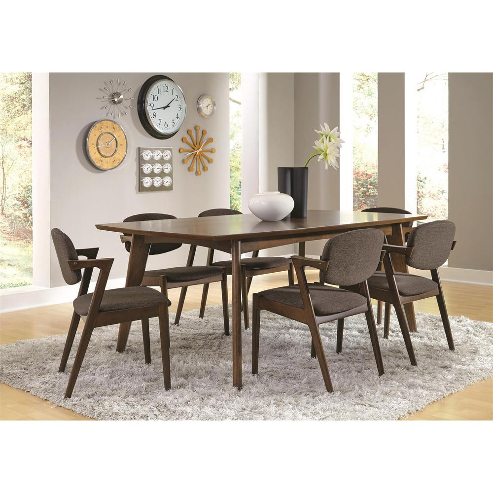 Dining Room Chair Sets Malone Grey And Dark Walnut Dining Side Chairs Set Of 2