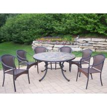 Oakland Living Tuscany Stone Art 54 In. 7-piece Patio