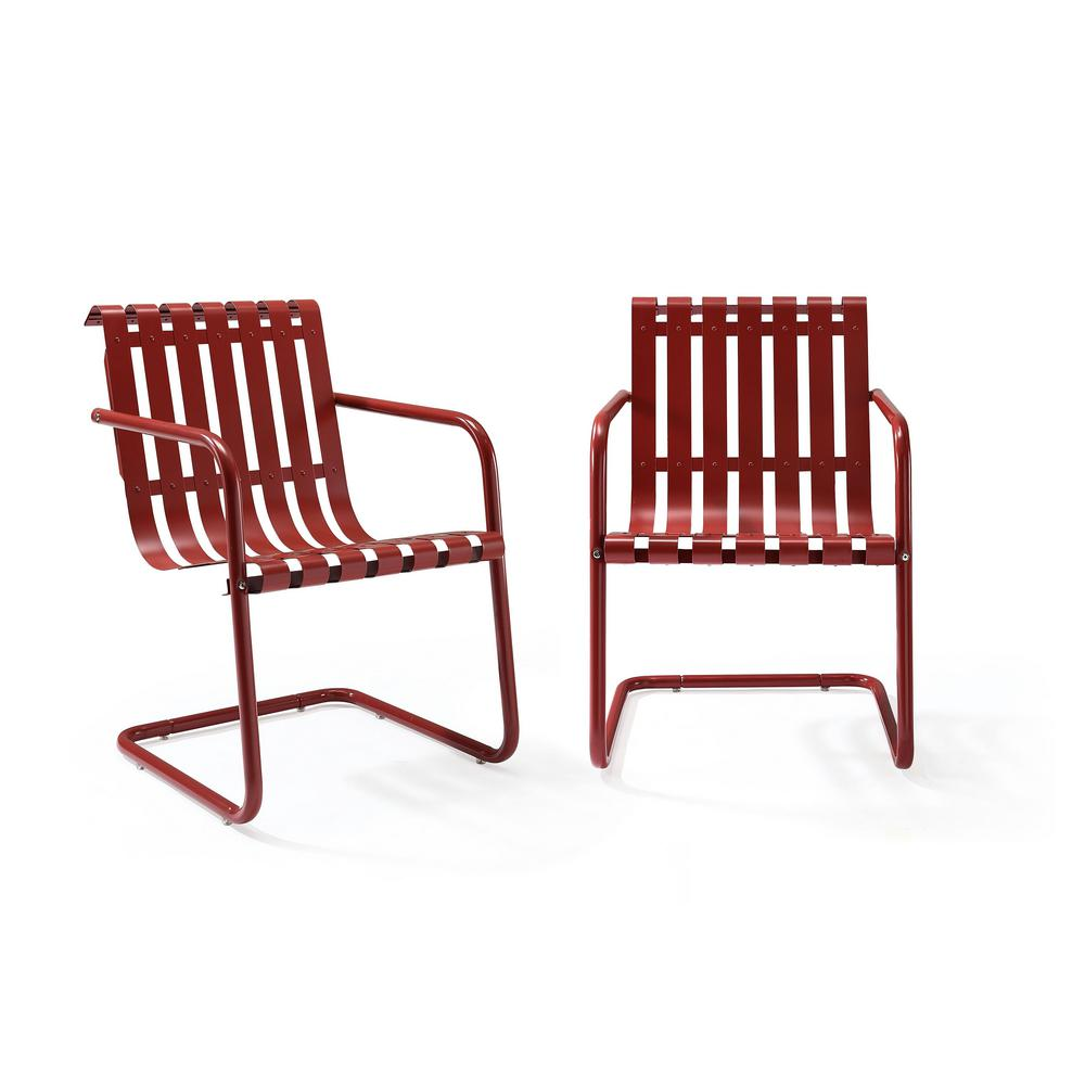 Outdoor Chair Set Crosley Gracie Red Metal Outdoor Chair Set Of 2