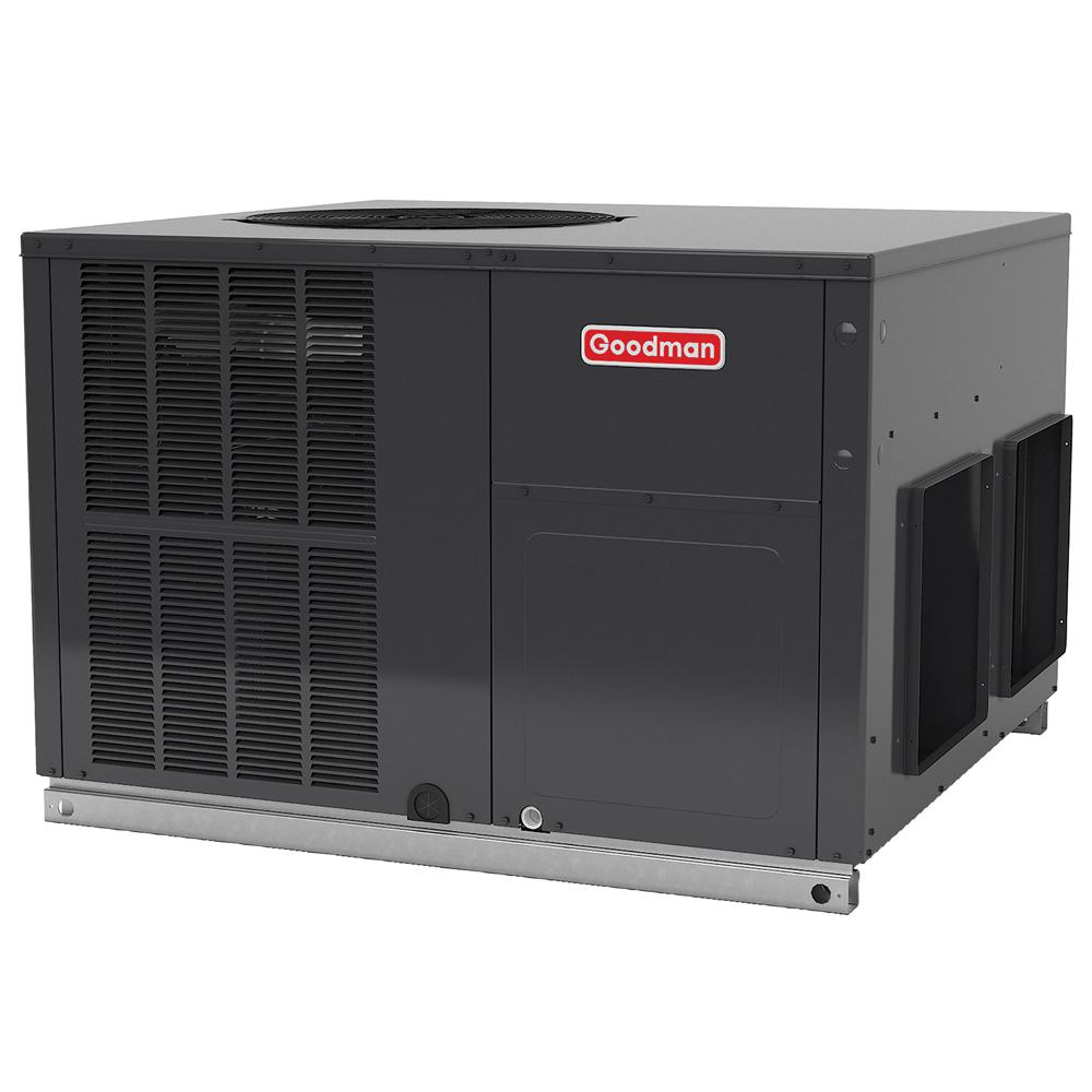 medium resolution of goodman 2 5 ton 14 seer r 410a horizontal package air conditioner heat pump