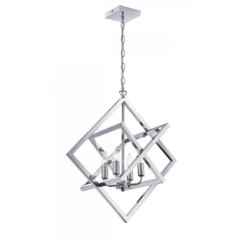 Filament Design 4-Light Polished Chrome Pendant-CLI