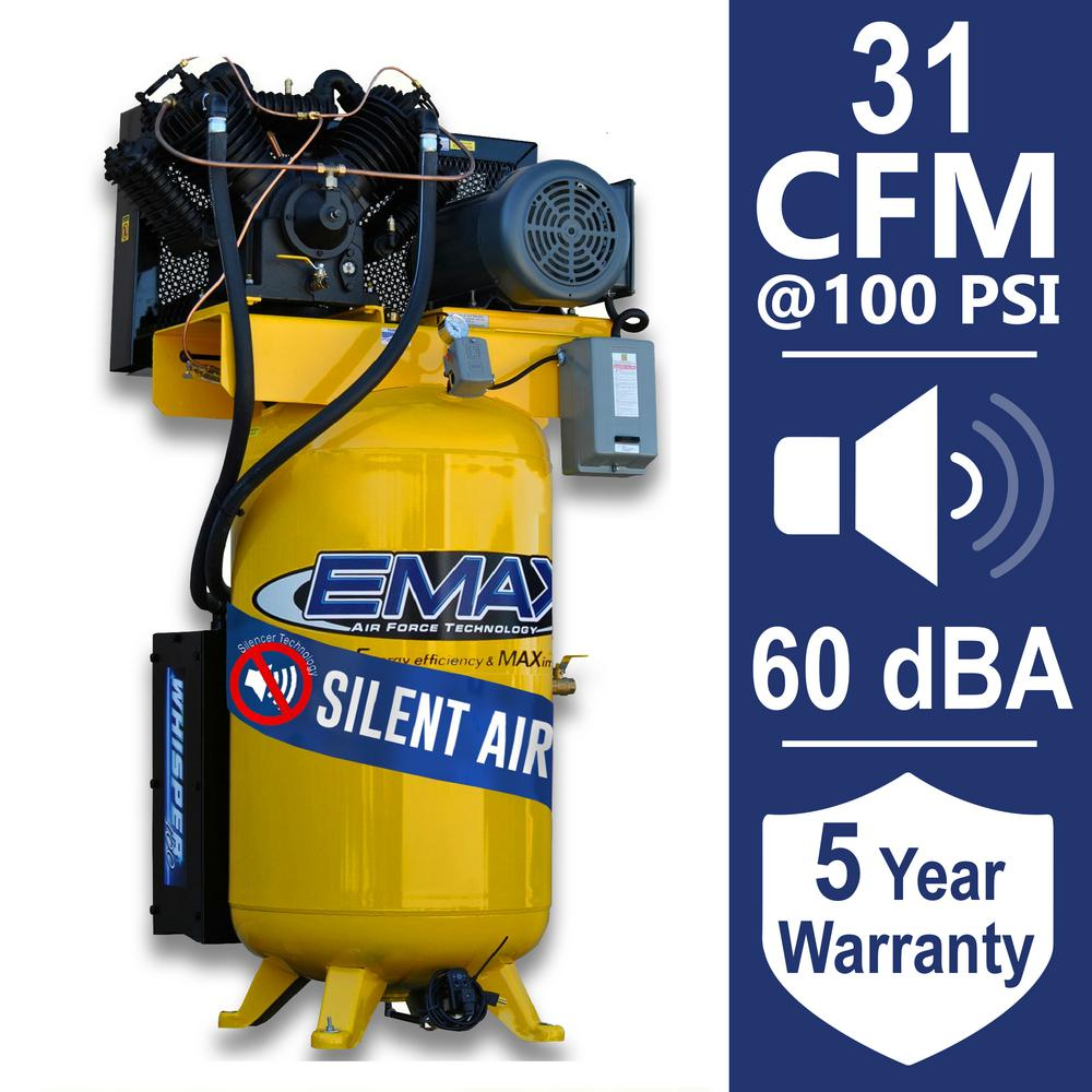 hight resolution of emax industrial plus series 80 gal 7 5 hp 208 volt 3 phase silent emax industrial