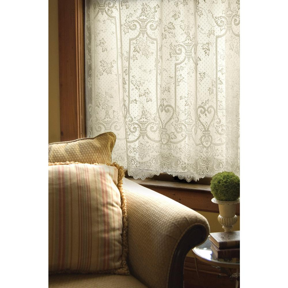 Heritage Lace Semi Opaque English Ivy 84 In L Polyester Valance In Ecru 9130E 6084 The Home Depot