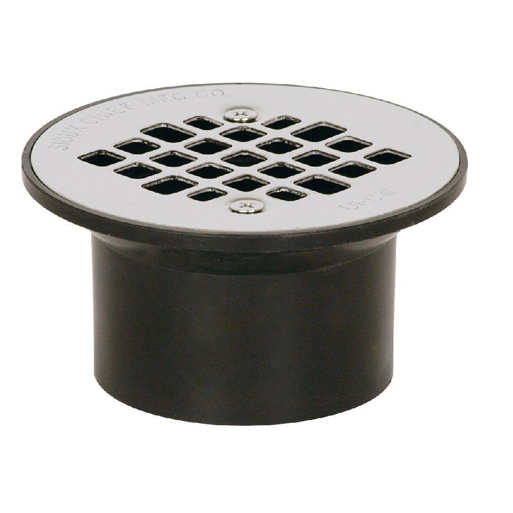 Sioux Chief 2 in x 3 in Black ABS Floor Drain with