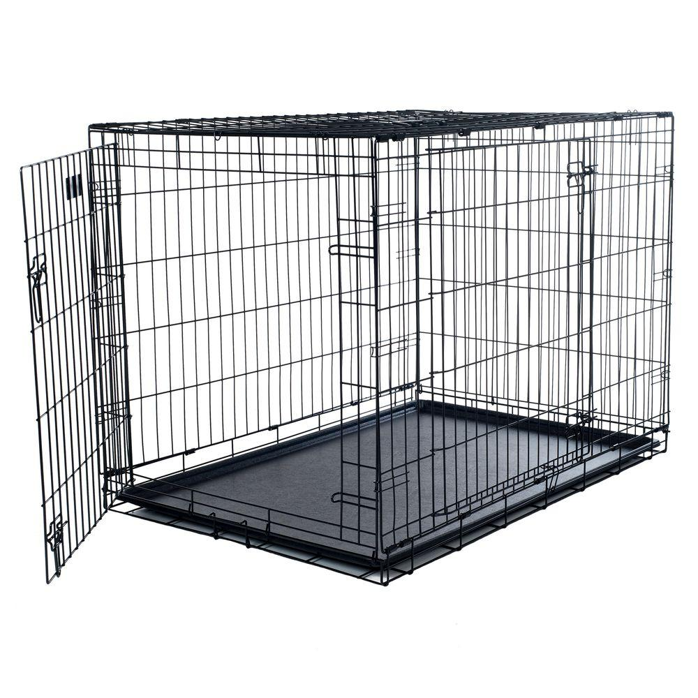 Petmaker 42 in x 28 in Foldable Dog Crate Cage with 2