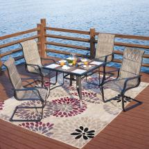 Patio Festival 5-piece Sling Outdoor Dining Set-pf19107