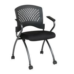 Office Star Chairs Banquet With Arms Pro Line Ii Coal Freeflex Rolling Visitor Chair Set Of 2