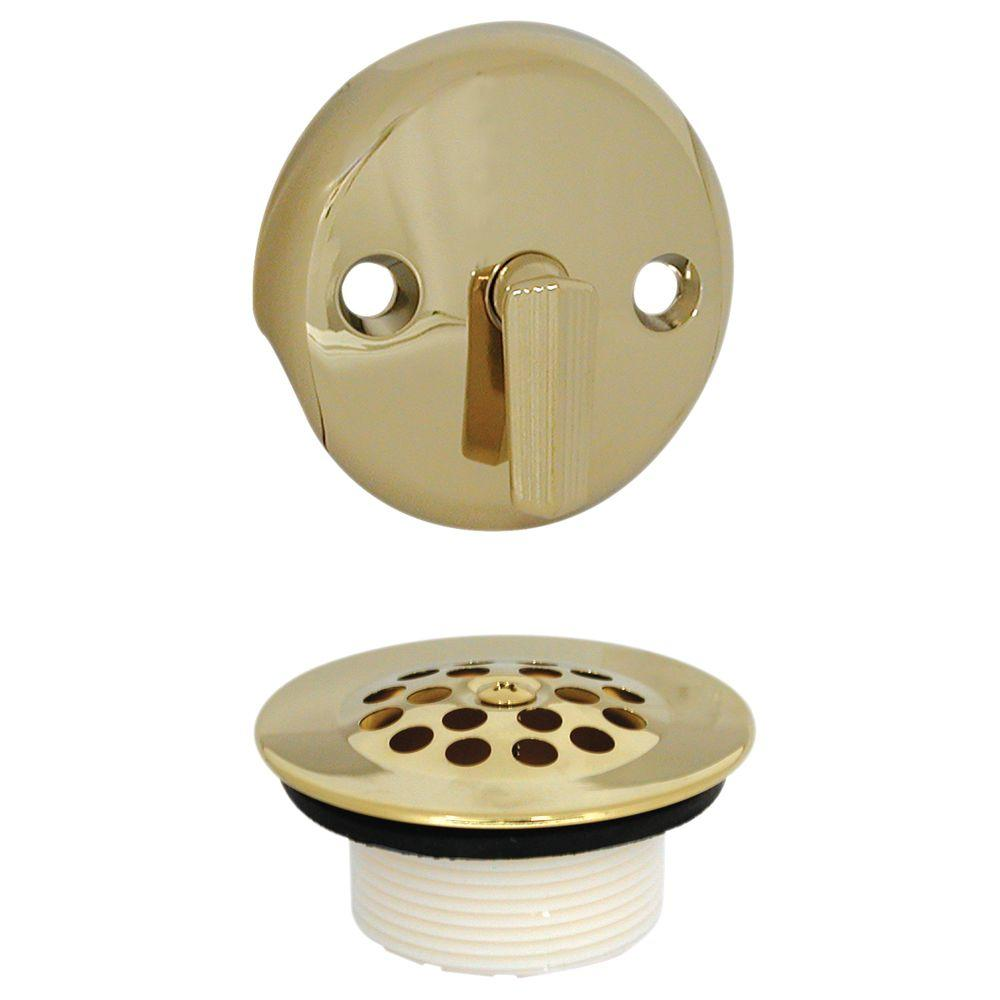 DANCO Trip Lever Tub Drain and Overflow Trim Kit in Polished Brass89243  The Home Depot
