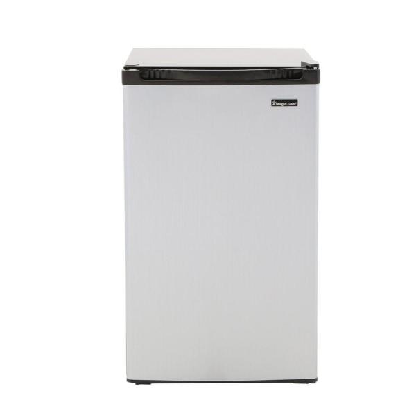 Magic Chef 4.4 Cu. Ft. Mini Refrigerator In Stainless -hmbr440se - Home Depot