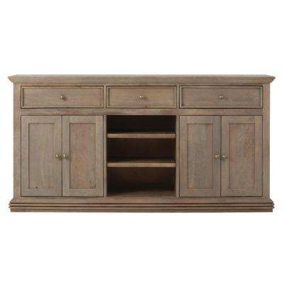 kitchen sideboards contemporary faucets buffets dining room furniture the home depot aldridge antique grey buffet