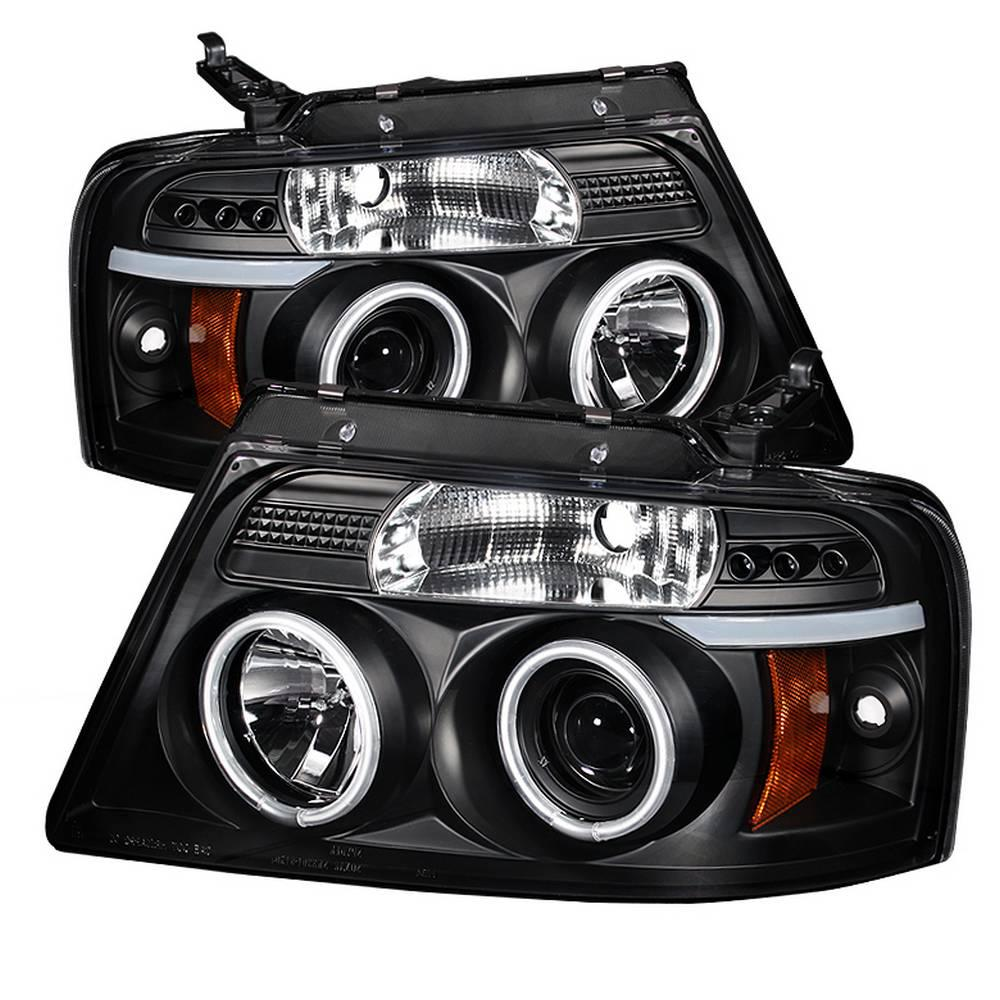hight resolution of ford f150 04 08 projector headlights version 2 ccfl halo led replaceable leds black