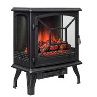 AKDY 20 in. Freestanding Electric Fireplace Mantel Heater ...