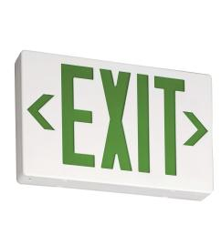 contractor select exg white thermoplastic integrated led emergency exit sign  [ 1000 x 1000 Pixel ]