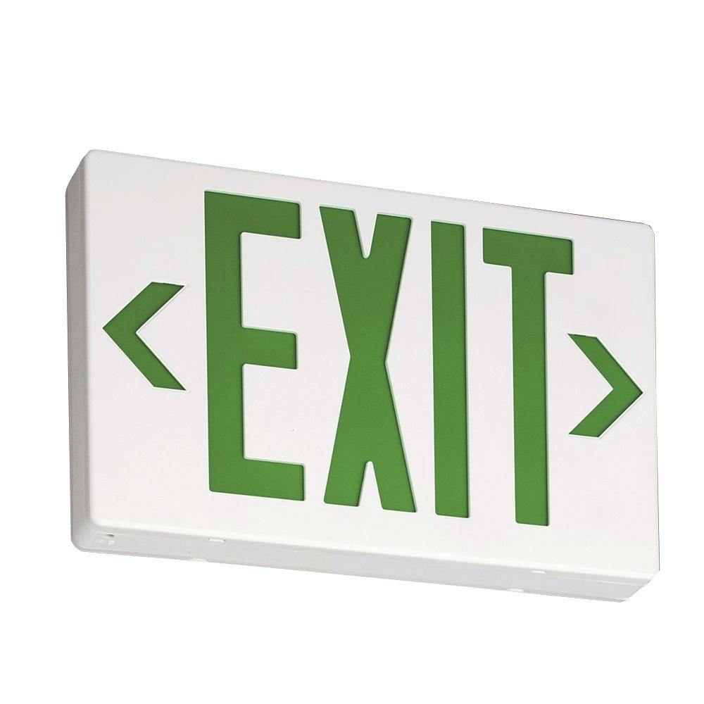hight resolution of contractor select exg white thermoplastic integrated led emergency exit sign