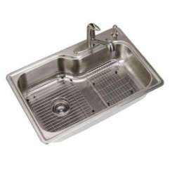 Ss Kitchen Sinks Lowes Cart Stainless Steel The Home Depot All In One