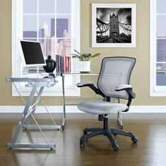Lexmod Focus Edge Desk Chair Folding Chairs Padded Modway Veer Mesh Office In Gray Eei 825 Gry The Home Depot