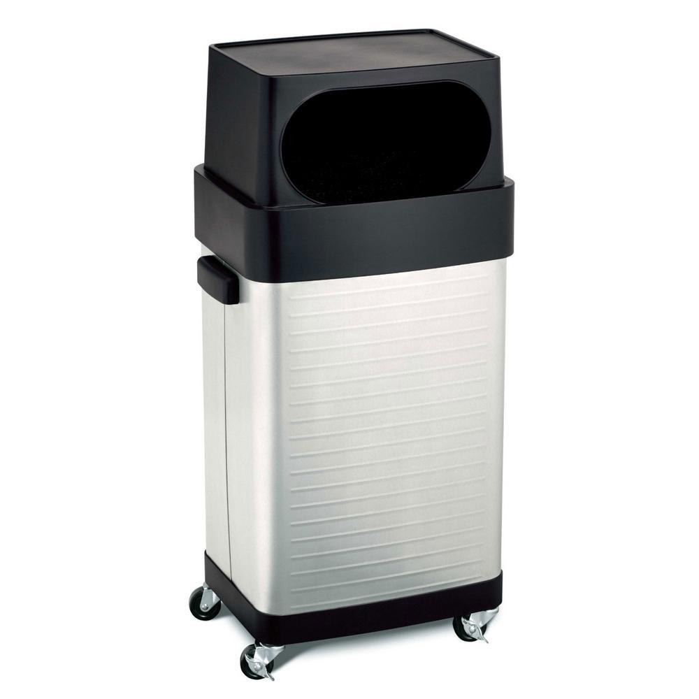 stainless steel kitchen trash can triple sink seville classics 17 gallon ultrahd commercial bin